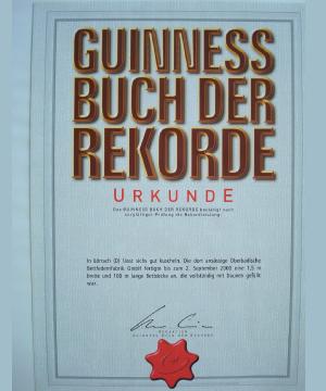 die längste Daunendecke der Welt Guinness Buch der Rekorde